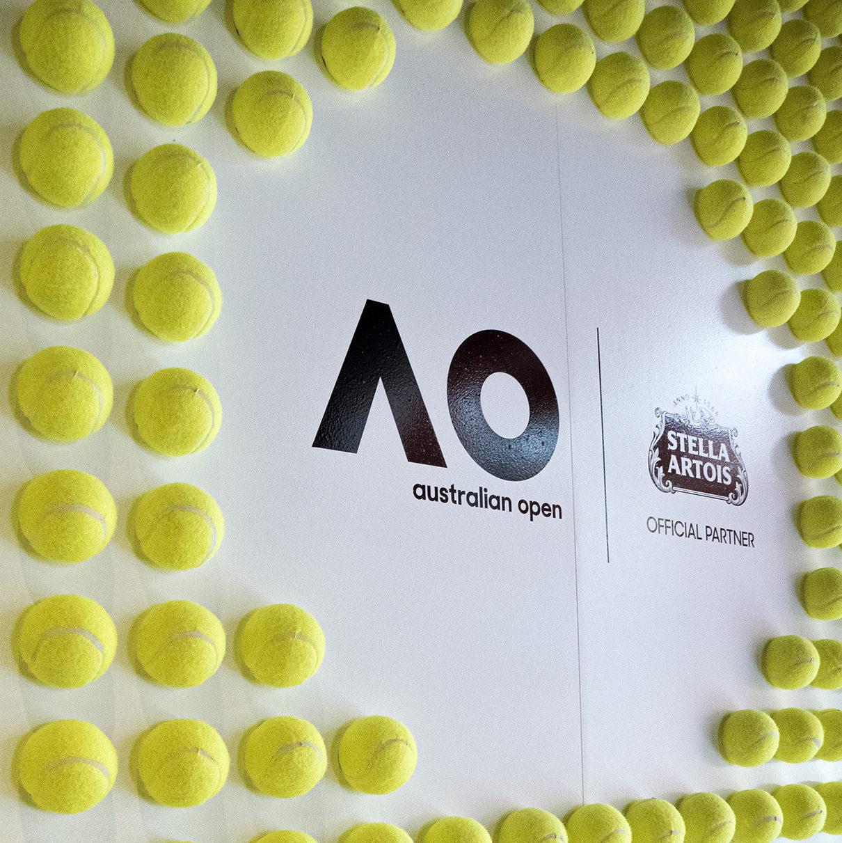 Stella Artois AO Tennis Ball Media Wall Pub Crown