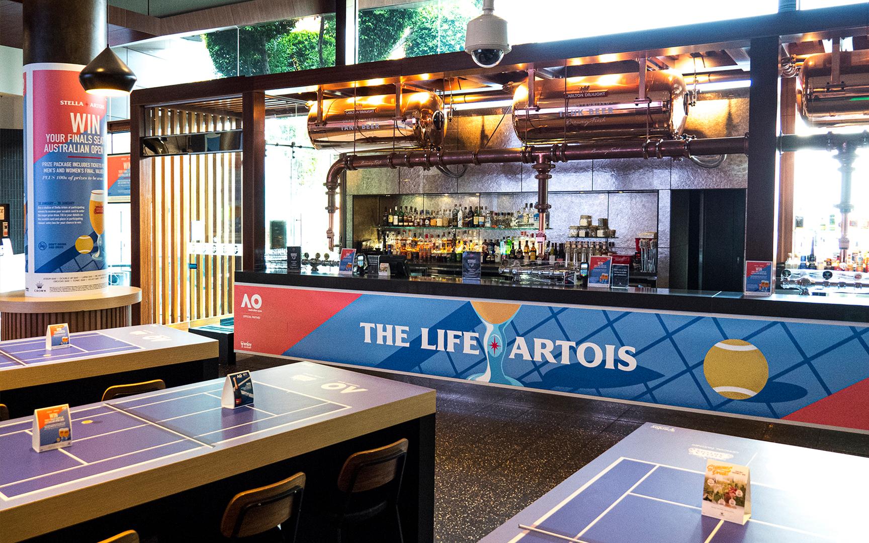 Stella Artois Pub Branding Crown Melbourne