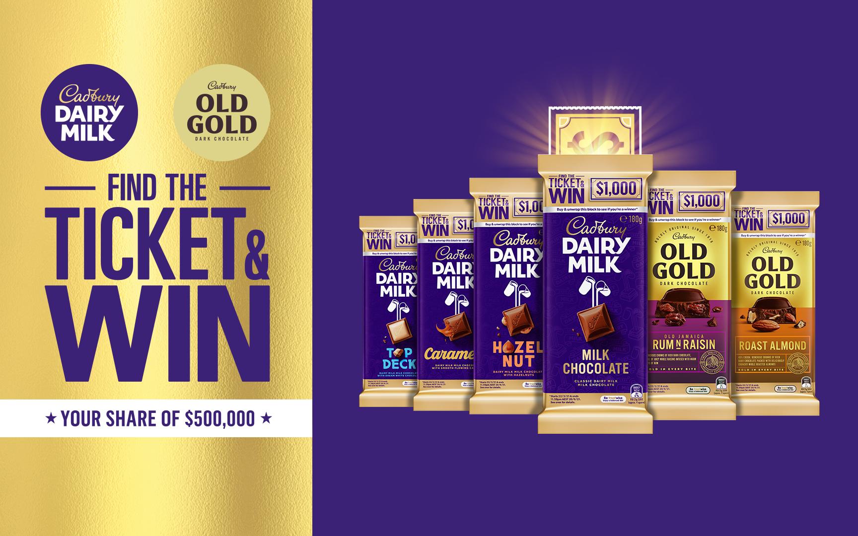 Cadbury Find the Ticket Promotion Key Visual