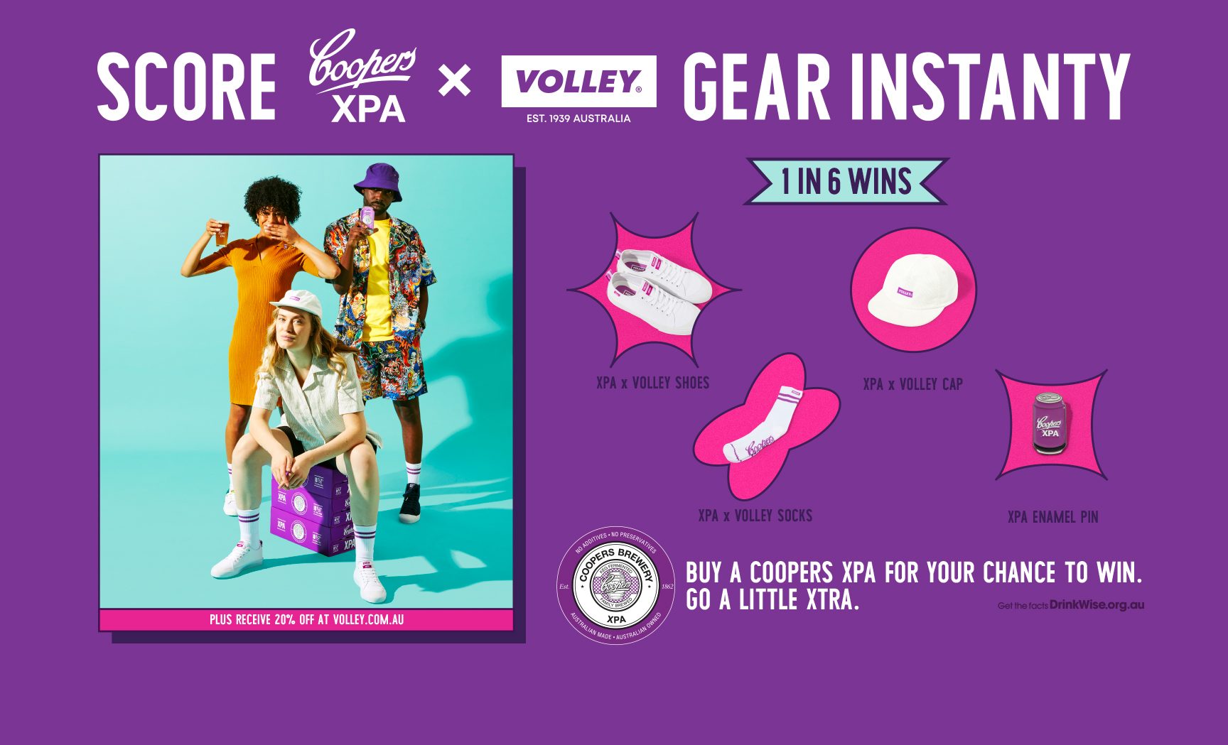 Coopers XPA Score Volley Gear Instantly 1 in 6 wins